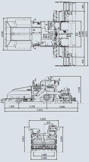 CATアスファルトフィニッシャー(ホイール式・MF61WE SERIES II(TV/V))