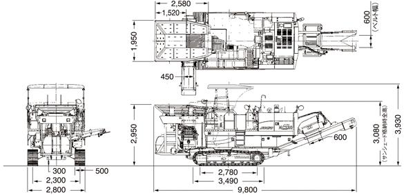 CAT自走式破砕機(MC220)