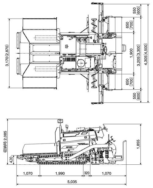 CATアスファルトフィニッシャー(クローラ式・MF43D)