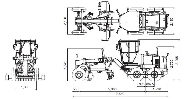 CATモータグレーダ(MG230III)