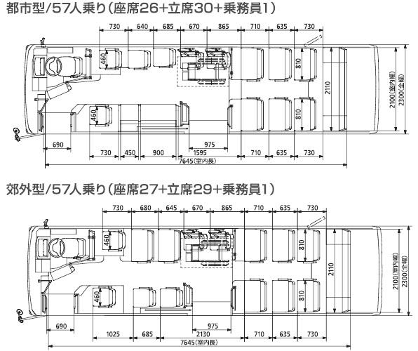 三菱ふそうエアロミディ(9m・ノンステップ)