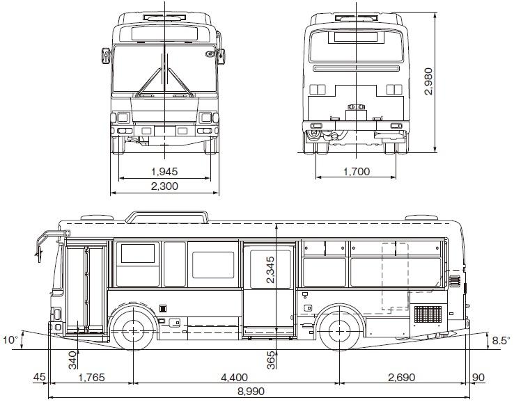 日野自動車レインボーII(路線系)