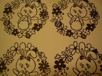 うさぎとお花はんこ2