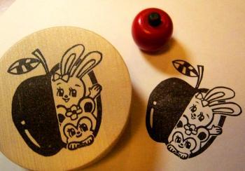 リンゴからこんにちわ はんこ