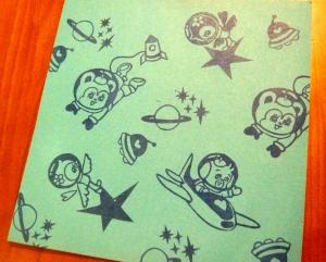 レトロ宇宙遊泳折り紙