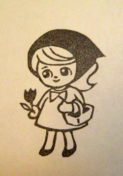 女の子(ずきんちゃん)