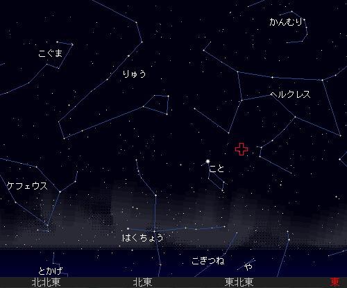 201204 22 4月こと座流星群星図