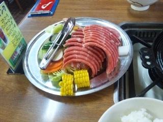 110427 ひるぜん大将 ジンギスカン肉、野菜