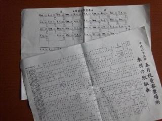 110511 大相撲 技量審査場所 番付、取組表