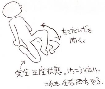 ヨガ/正座