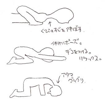 ヨガ/首を伸ばす