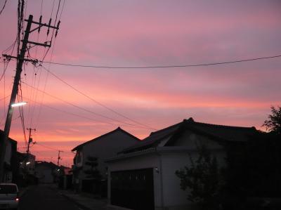 23日夕焼け