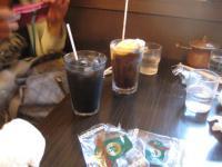 イカスミ&アイスコーヒー