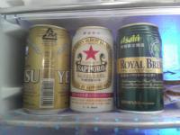 冷蔵庫のビール