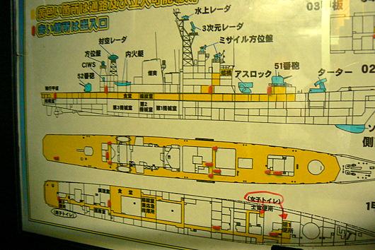 090725 艦内公開を示すの図