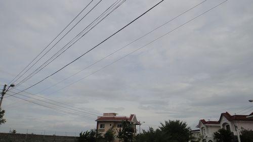 朝から曇り