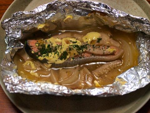 鮭とキノコのホイル焼き.JPG