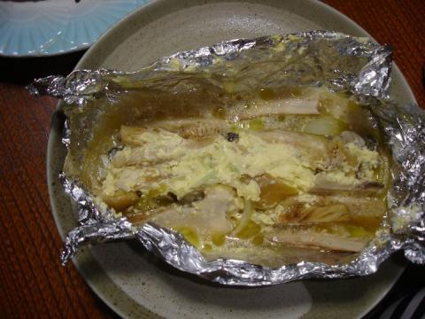 2009 10 04 牡蠣とキノコのホイル焼き.JPG