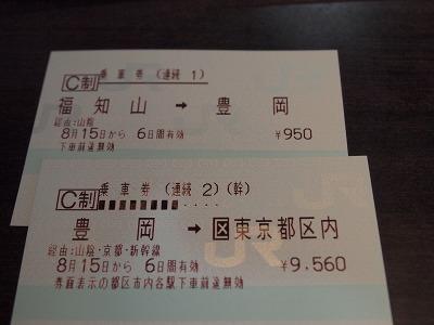 連続乗車券