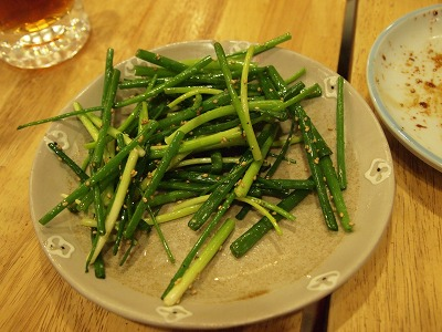 青ネギのサラダ