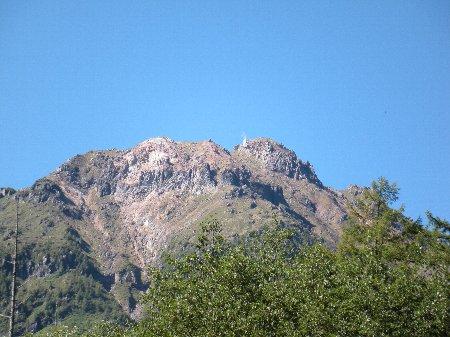 山は生きている。