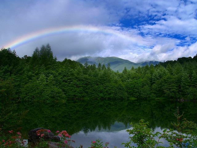 s-iyppみすず池の虹-1