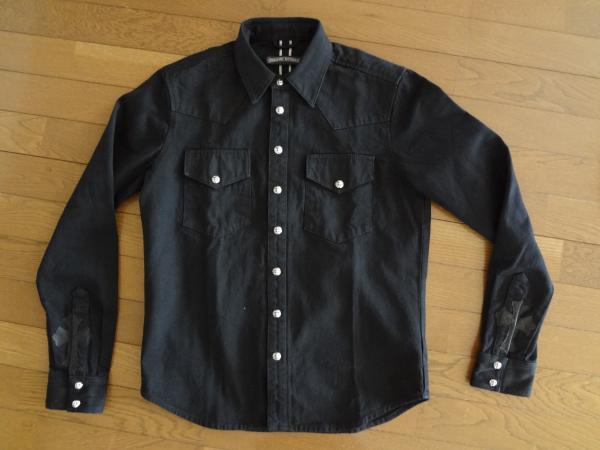 CHROME HEARTS ブラックデニム・ウエスタンシャツ 1