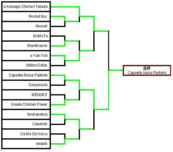 第二回倭国闘鶏大会トーナメント結果