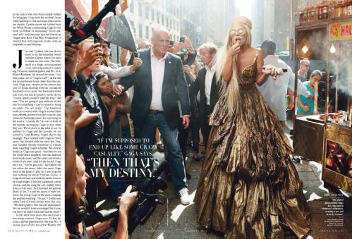 Lady Gaga - topless in Vanity Fair magazine January 2012 04