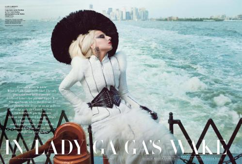 Lady Gaga - topless in Vanity Fair magazine January 2012 05