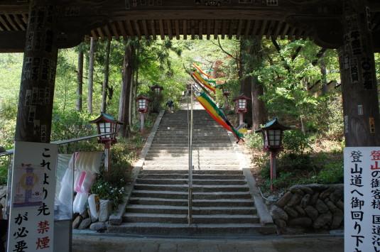 藤切り祭り 階段