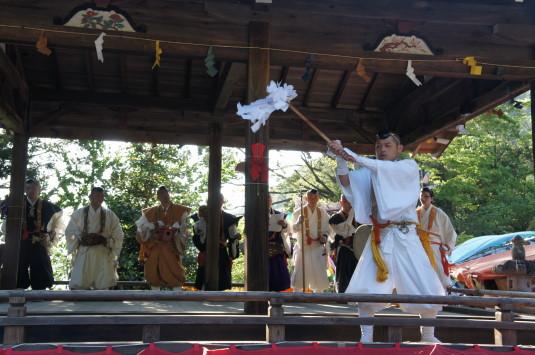 藤切り祭り 祈祷