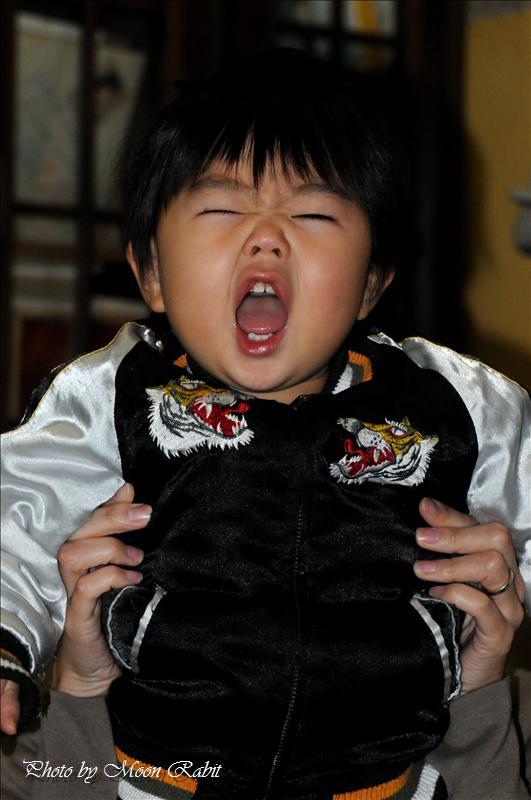 あーくん (1歳3ヶ月) 西条市八丁にて 2007.12.23