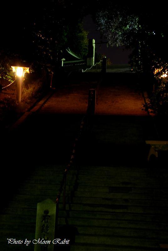 石鎚神社の夜景 西条市西田 2007.12.23