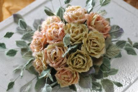 和紙の薔薇2
