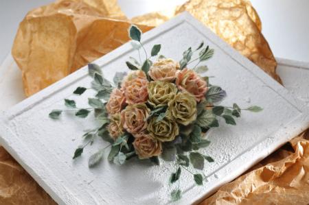 フレームの和紙の薔薇