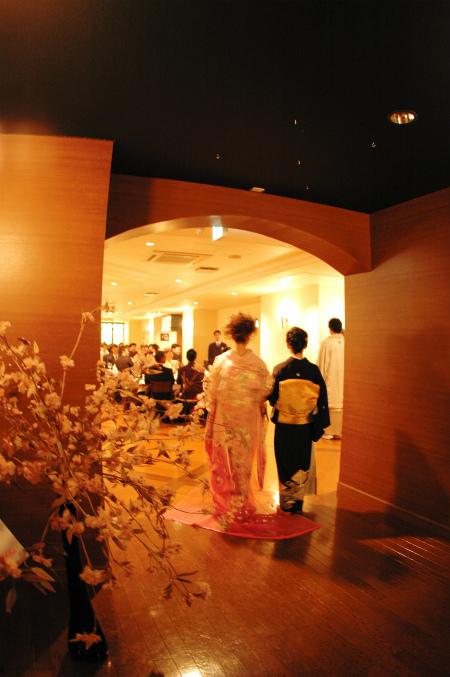 ブログ結婚式桜