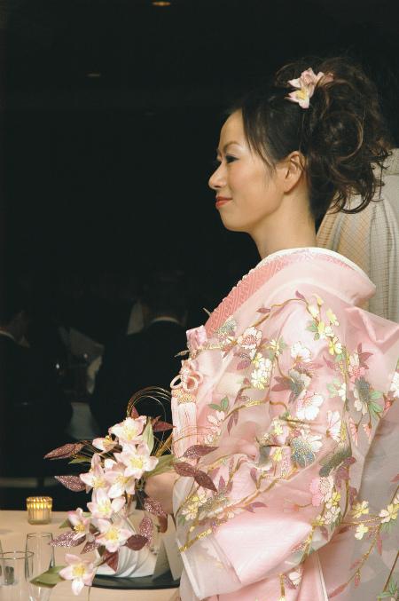 ブログ和桜ブーケ
