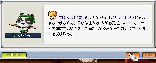 武陸ベルト黄2