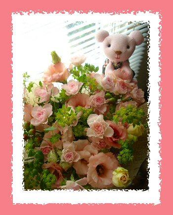 お花とクマちゃん