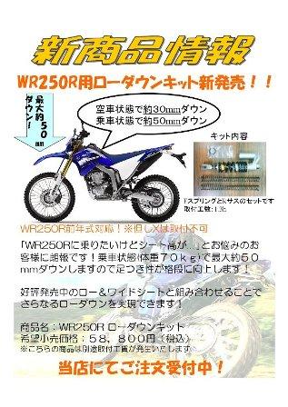 WR250R・ローダウンKIT
