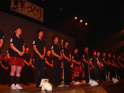 写真キャプション=見事、「パチンコホール日本一」の栄冠に輝いた「JOY STAGE」(愛媛県)のプレゼン