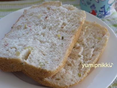 ベーコンセロリ食パン♪