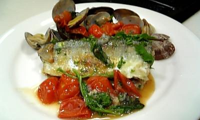 秋刀魚のアクアパッツァ