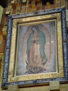 グアダルーペのマリア像アップ