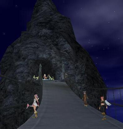 モラタワーにかかる橋