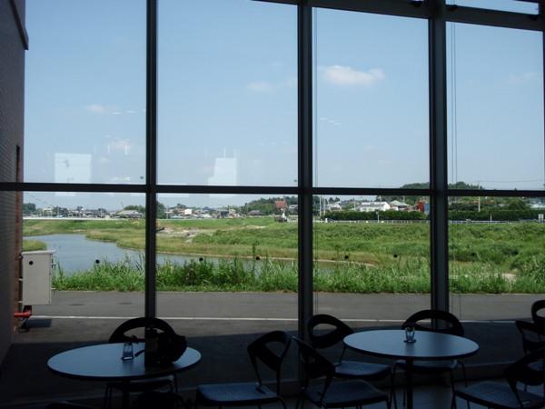 境川遊水池情報センターからの眺め