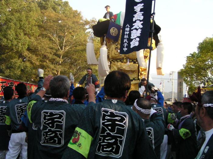 八幡神社かき比べ