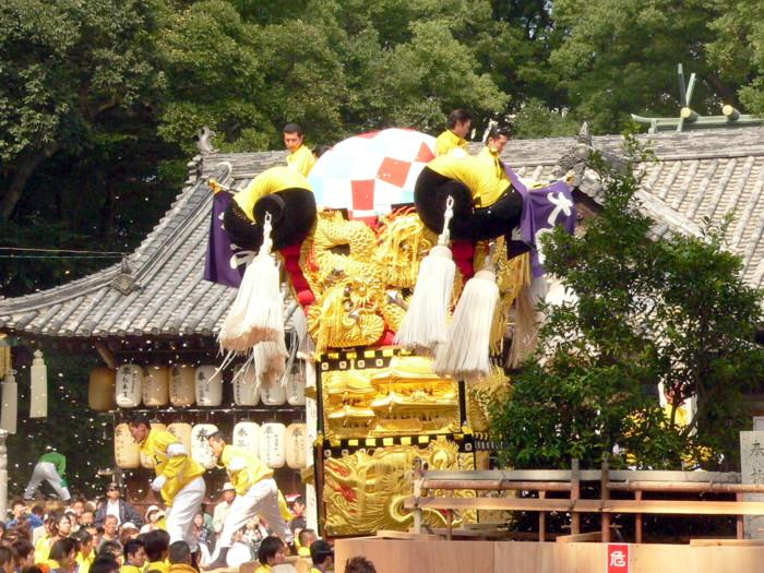 一宮神社の大江太鼓台