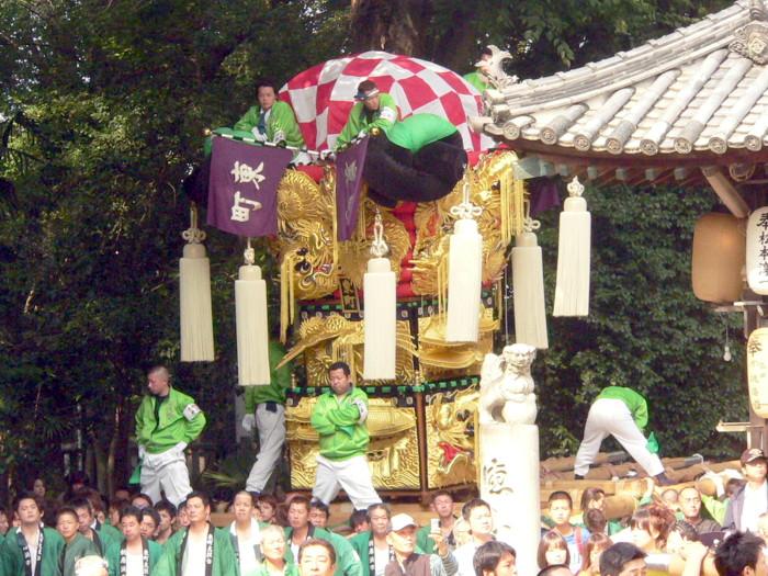 一宮神社の東町太鼓台